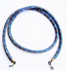 "Cordón de gafas/mascarillas azul ""Cruces de estelas""-0"