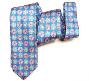 """Corbata azul y rojo """"Escudos de luz""""-806"""