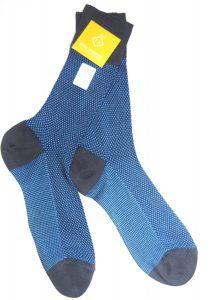 "Calcetines de algodón egipcio hilo de Escocia ""Azzurro Vibes""-1434"
