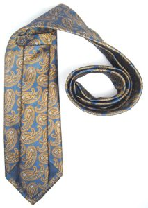 "Corbata paisley azul y tostada ""Secreto Azteca""-1552"