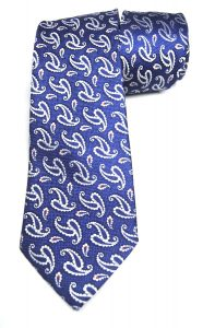 """Corbata de amebas azul y blanco """"Barlovento""""-0"""
